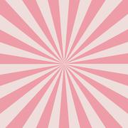 retro pink rays - stock illustration