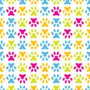 Stock Illustration of Animal seamless vector pattern of paw footprint. Endless texture