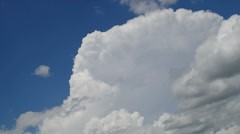 Blaster fast moving white clouds on blue sky - stock footage