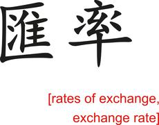 Chinese Sign for rates of exchange, exchange rate Stock Illustration
