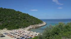 Beach at skala marion Thassos Greece Stock Footage