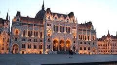 Kossuth Lajos square in Budapest Stock Footage