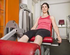 training quadriceps - stock photo