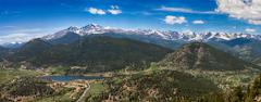 Panoramic view of Rocky mountains, Colorado, USA - stock photo