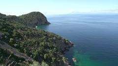 Coast line Thassos Greece Stock Footage