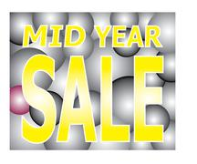 mid year sale on light two tone ball festival - stock illustration