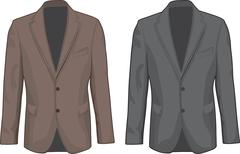 Brown and Gray male coats. Vector Stock Illustration