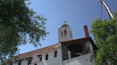Tilt from church in skala marion Thassos Greece Stock Footage