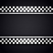 Structured metallic perforated for race sheet gray template - stock illustration