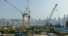 4K Construction View in Hong Kong - stock footage