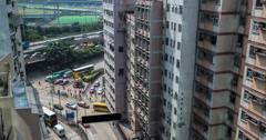 Hong Kong Happy Valley Traffic View 4K Stock Footage