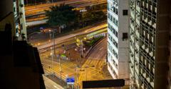 4K Hong Kong Traffic and Golden Dragon  Stock Footage