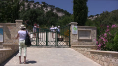 Entrance to the Park of Aphrodite in Cyprus Stock Footage