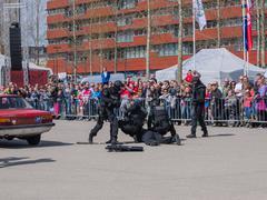 dutch swat team in action - stock photo