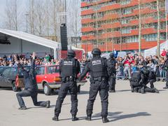 Dutch swat team in action Stock Photos