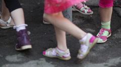 Children's feet - stock footage