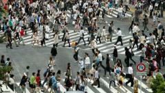 TOKYO SHIBUYA CROSSING TIMELAPSE Stock Footage
