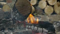 A weak fire Stock Footage
