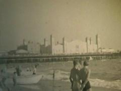 Santa Monica Pier, Boardwalk, Hotels, California 1934 - stock footage