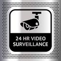 Stock Illustration of Video surveillance symbol on a metallic background