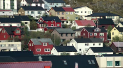 Europe Norway the North Cape 016 village of Honningsvåg Stock Footage