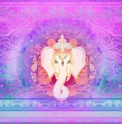 Creative illustration of hindu lord ganesha Stock Illustration