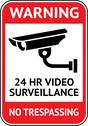 Stock Illustration of Video surveillance, cctv label