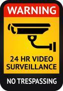 Video surveillance sticker Stock Illustration