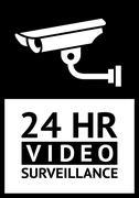 label CCTV symbol - stock illustration