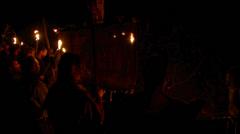 Beltane festival bonfire 01 Stock Footage