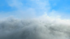 4k, impressive looped intro background, Flight through clouds Stock Footage