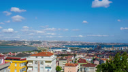 Stock Video Footage of Buildings Timelapse, Blue Sky and Turkey City