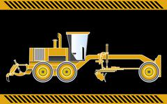 motor grader construction machinery equipment - stock illustration