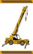 Crane  construction Stock Illustration