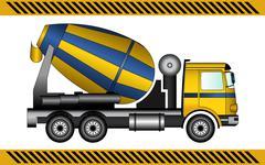 Concrete mixer construction machinery equipment Stock Illustration