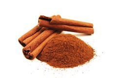 Cinnamon sticks isolated Stock Photos