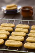 Stock Photo of shortbread on cooling rack