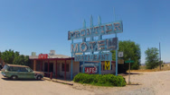 Stock Video Footage of Frontier Motel And Restaurant On Route 66- Truxton Arizona