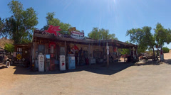 Hackberry General Store On Route 66 Medium Wide 1 Stock Footage