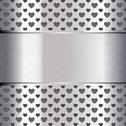 Stock Illustration of Background perforated shape heart