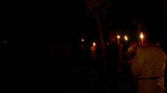 Beltane festival people 01 Stock Footage