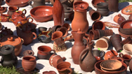 Stock Video Footage of Ceramic and clay pots. 4K.