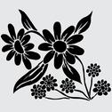 Stock Illustration of floral decoration with camomiles, for invitations, cards, banners
