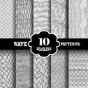 Stock Illustration of seamless patterns set with waves, for invitations, cards, scrapbooking, print