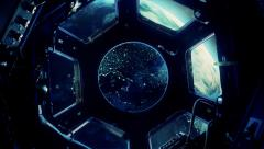 Space Station Window - stock footage