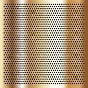 Gold background perforated sheet - stock illustration