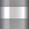 Stock Illustration of Gray background perforated sheet