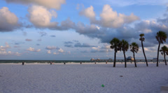Clearwater Beach at sunrise.  4K Stock Footage