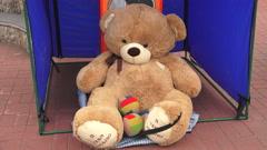 Big Teddy bear. 4K. Stock Footage