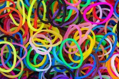 rubber loop rings - stock photo